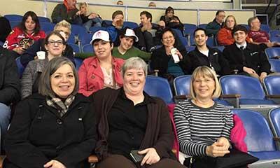 Members at a Winterhawks hockey game