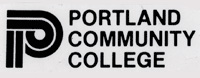 Graphic P to the left of the words Portland Community College