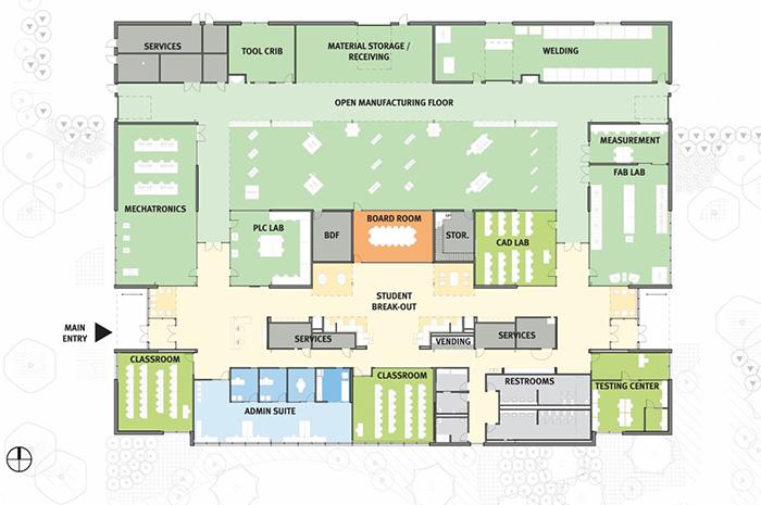 OMIC Floor plan diagram