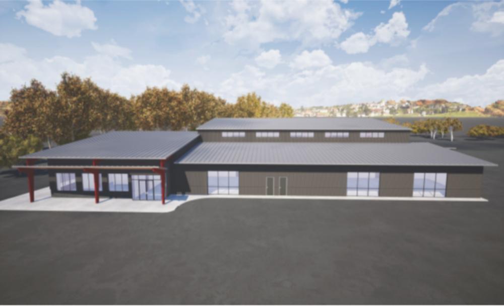 Rendering of new Dealer Service Technology Building