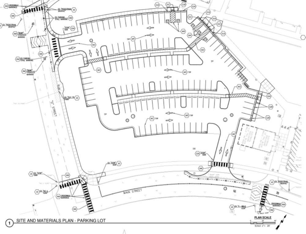 Rock Creek Parking lot E site plan