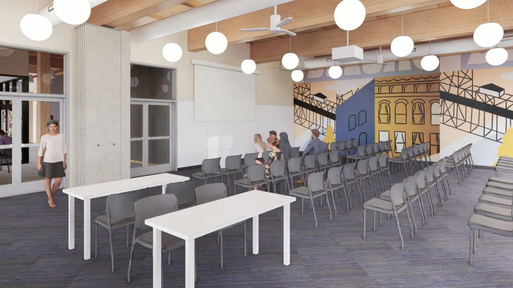 Interior rendering of the community room