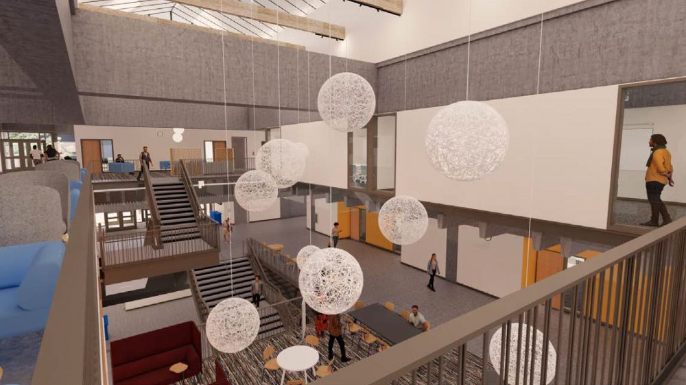 Rendering of HT atrium seen from Level 3