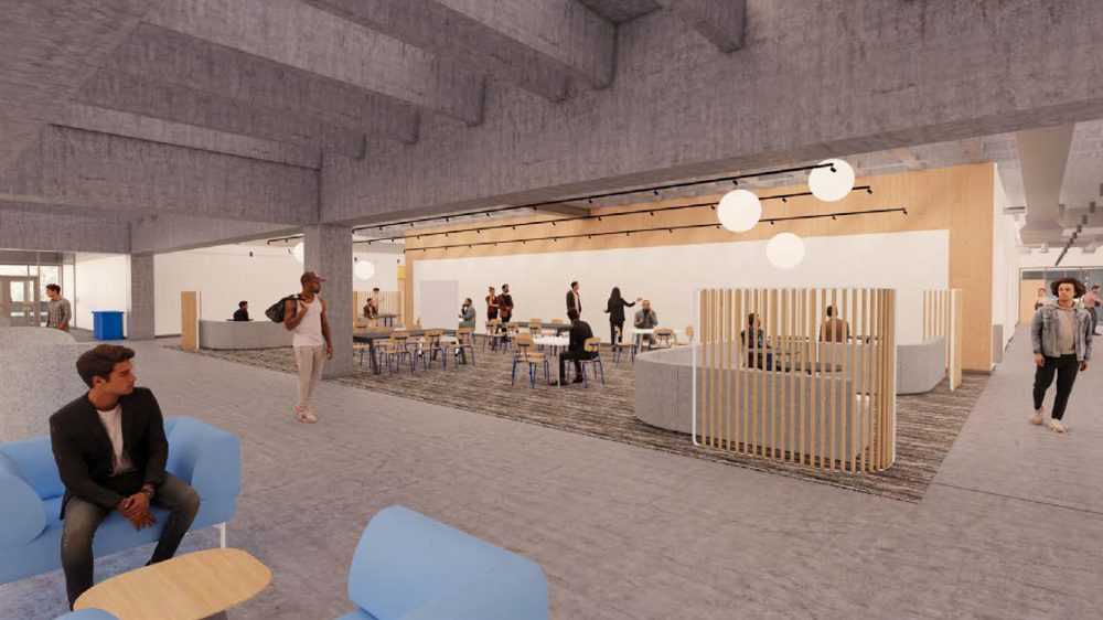 Rendering of HT level 3 collaboration area