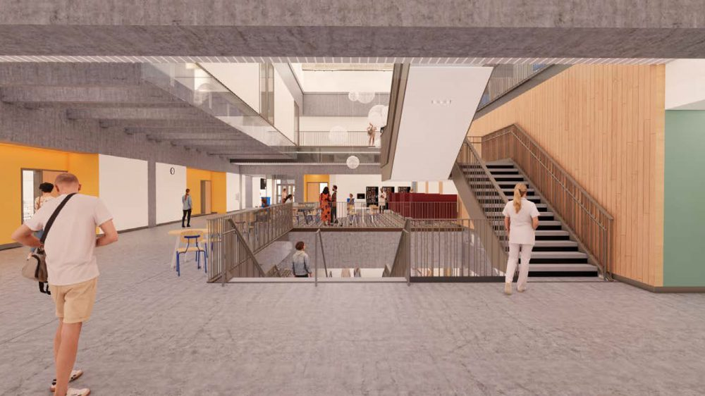 Rendering of level 2 entry looking north