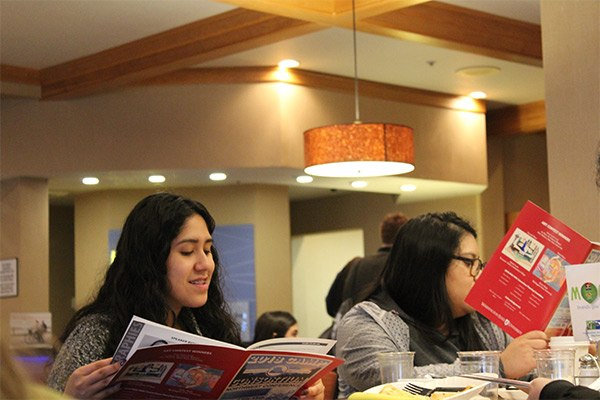 Students reading
