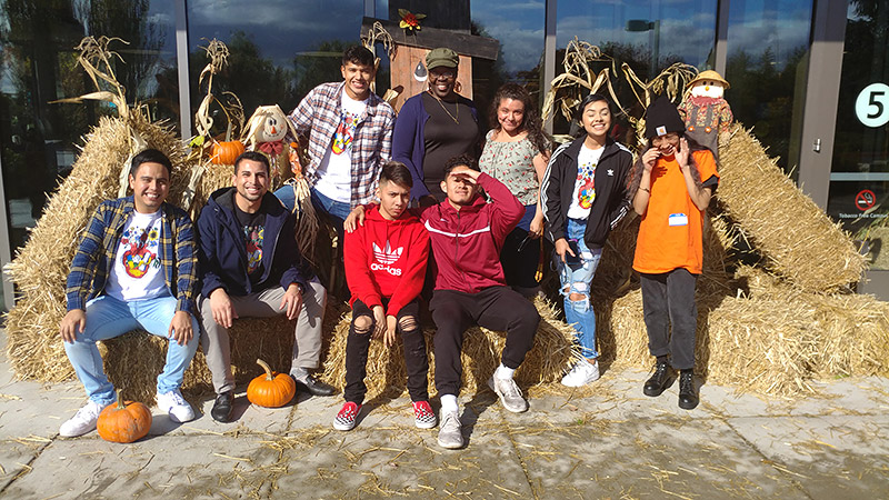 CAMP students volunteering at the PCC Fall Harvest Festival