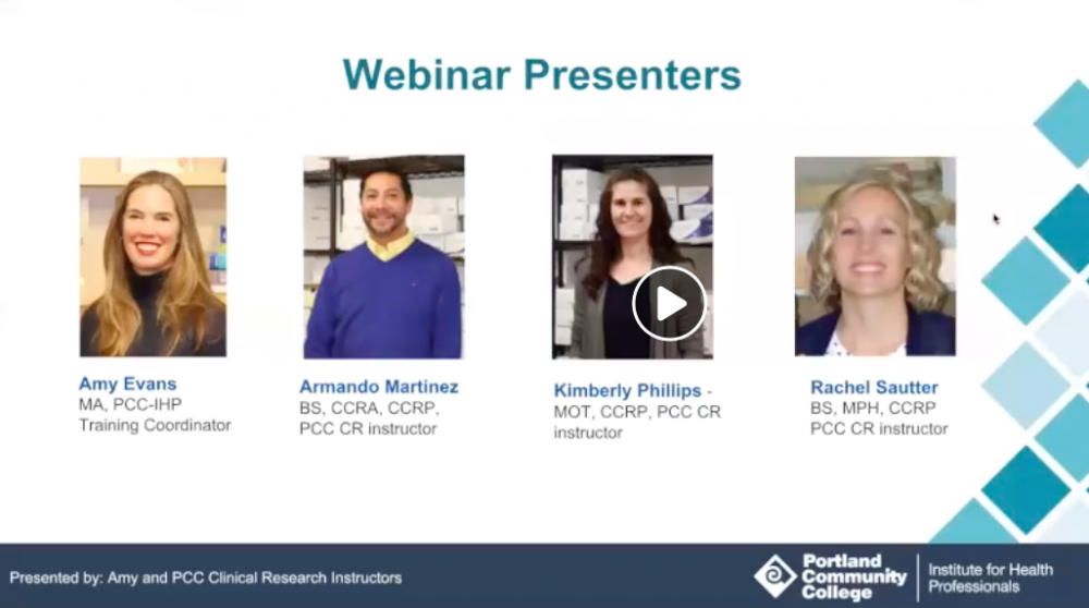 clinical research webinar and instructors