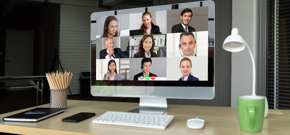 six professional individuals in a conference call