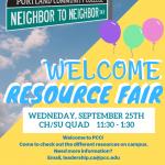 CA Welcome Resource Fair FA19