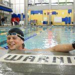 Swimming student