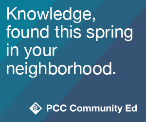 Knowledge found this spring in your neighborhood.