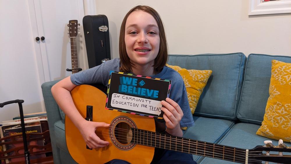 PDX teen from guitar class
