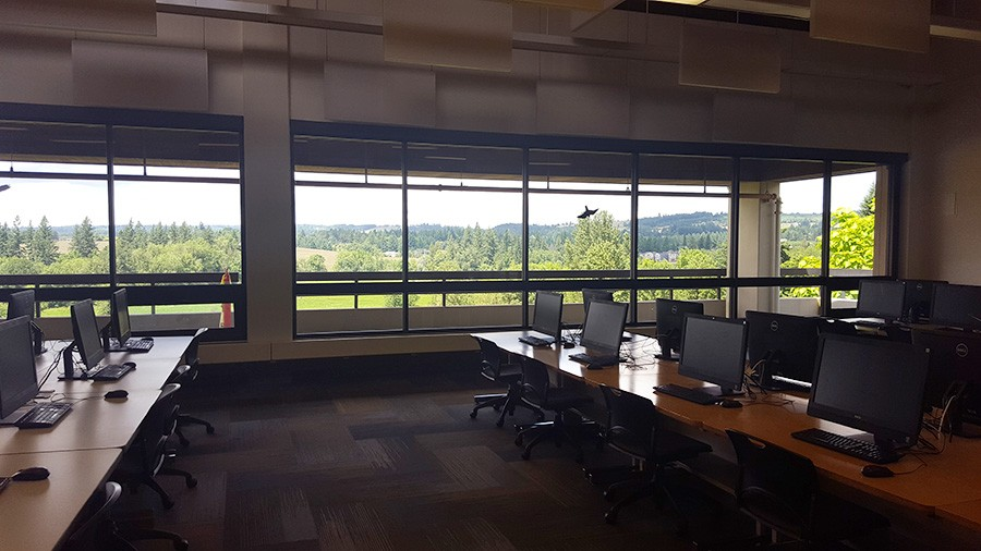 windows in the lab