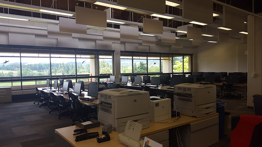 printers in the lab