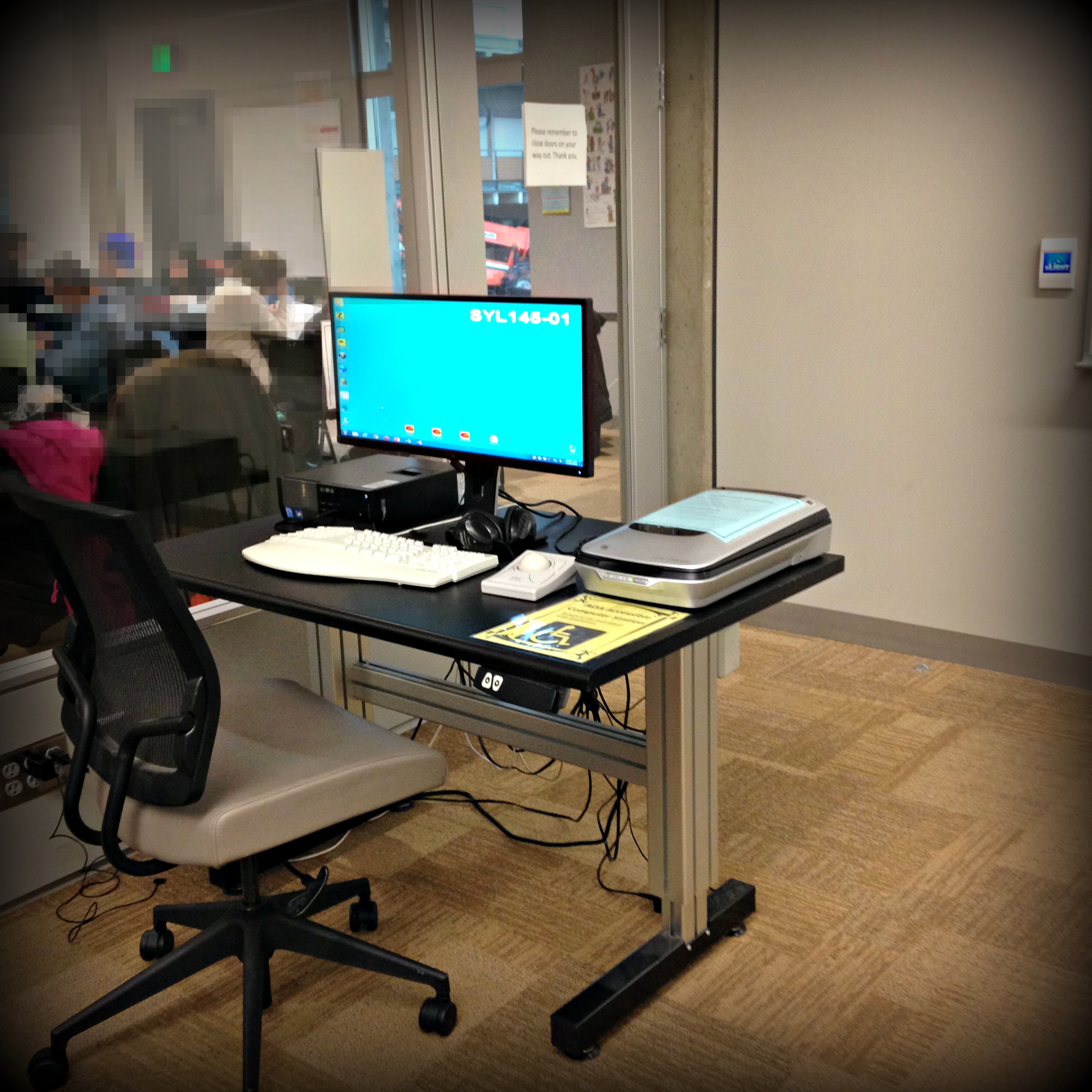 Computer is in Room 145 located near the whiteboards in the front of the room. & Computer station u2013 SY LIB Student Learning Center (Room 145 ...