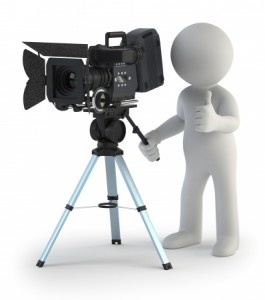 decorative image of a videographer