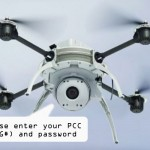 image of drone asking for ID and password
