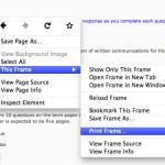Print Frame option in Firefox