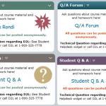 four examples of Q and A Widgets