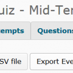 Export the quiz log from the Grade area