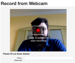 the new webcam interface for kaltura