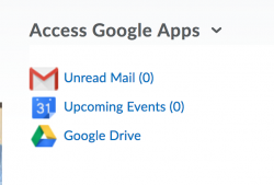 Access Google Apps widget links to your Gmail account