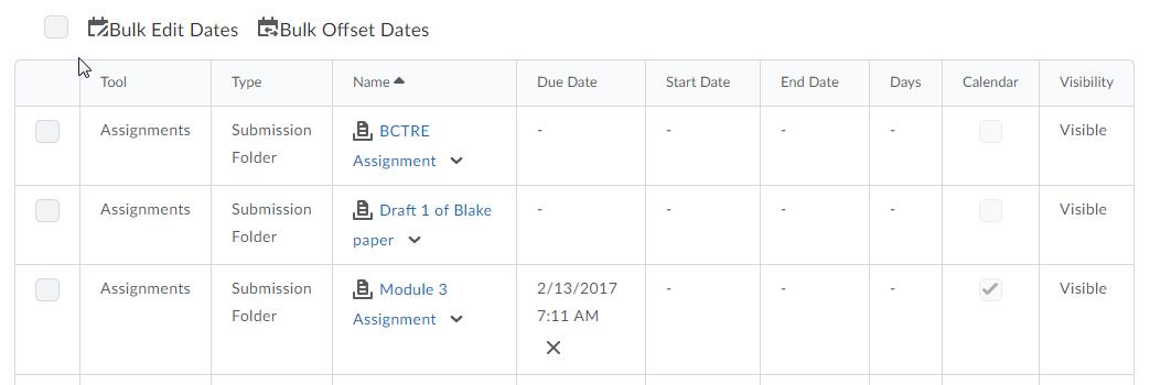 D2L Manage dates now includes due date
