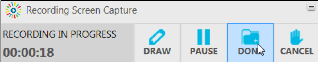 Control window, click On Done