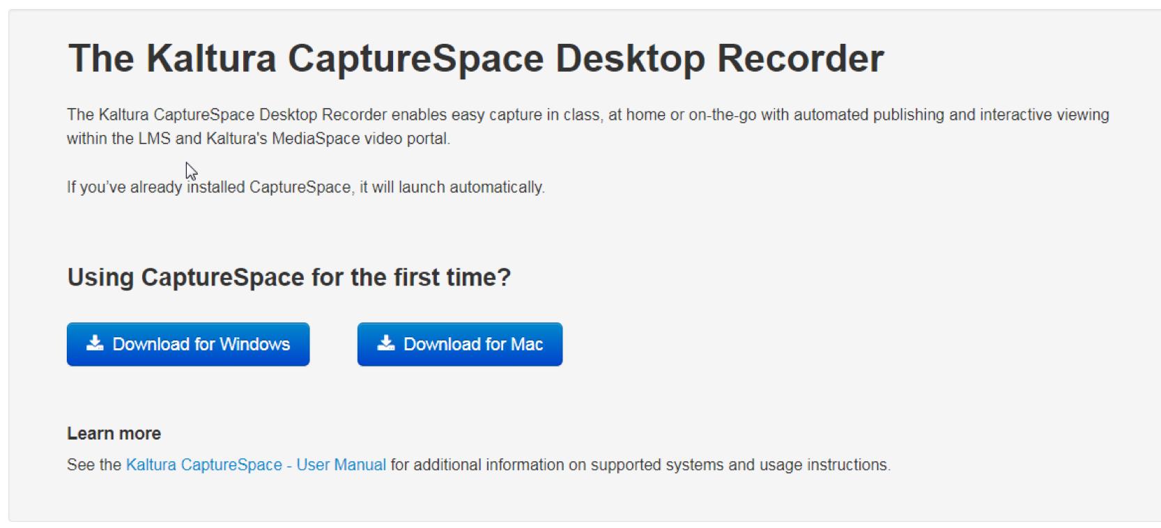 Download CaptureSpace Lite