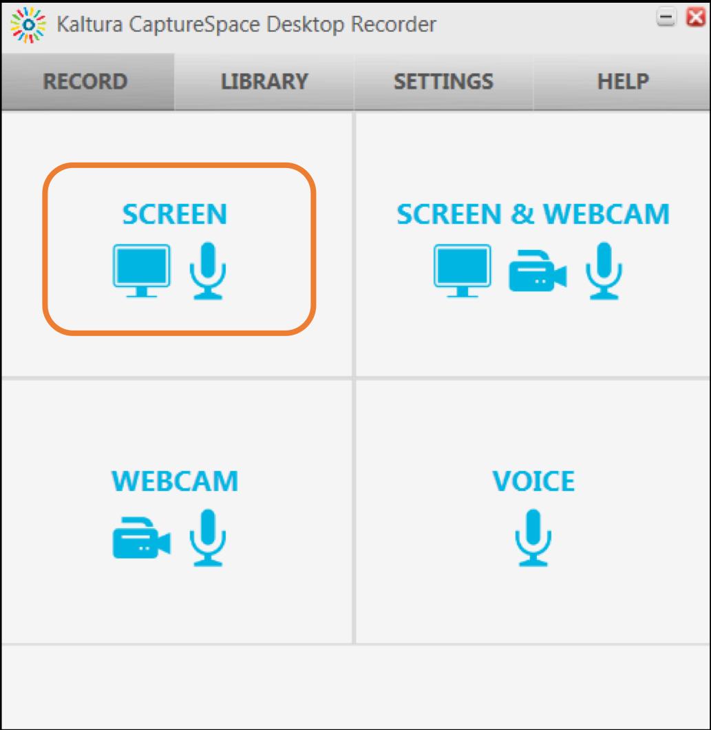 Kultura CaptureScreen starting screen
