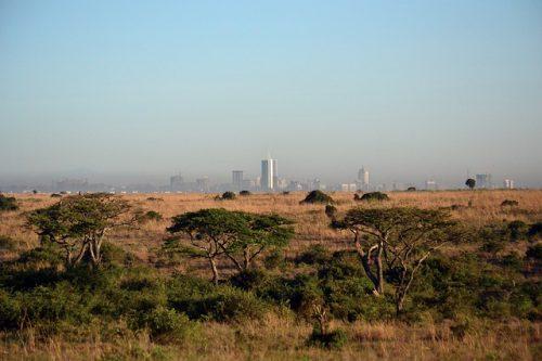 Image of Kenyan Landscape with Nairobi in background