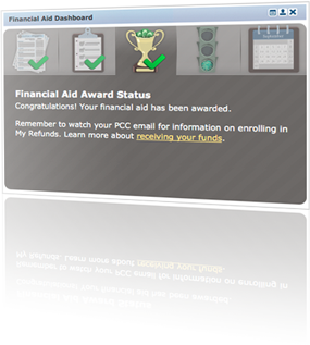 financial aid dashboard screenshot