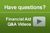 Have questions?  Financial Aid Q and A videos