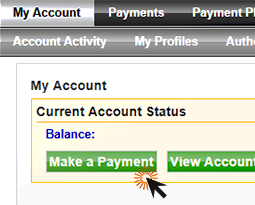 screenshot of pcc-pay with mouse over make a payment button