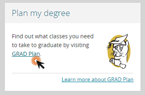screenshot of gradplan login