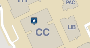 thumbnail of map showing a map marker in the CC building