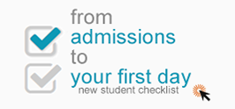 from admissions to your first day - new student checklist