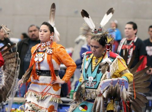 Dancers at the Winter Powwow