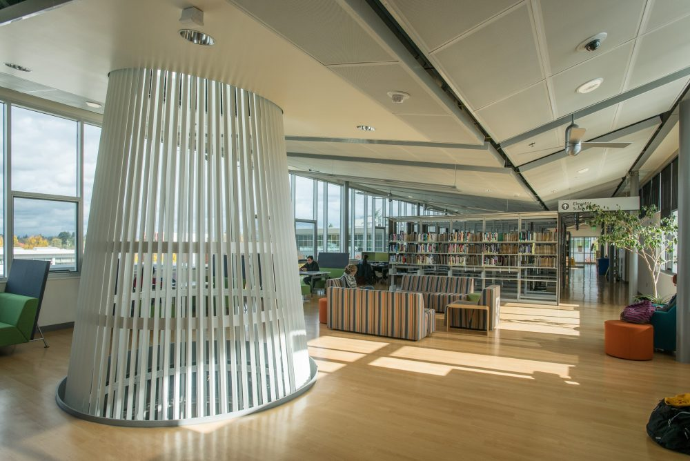 Interior of library building