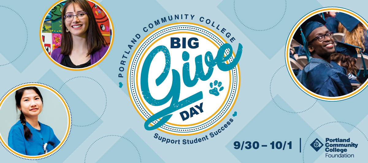 PCC Big Give Day: Support Student Success September 30 through October 1, 2020