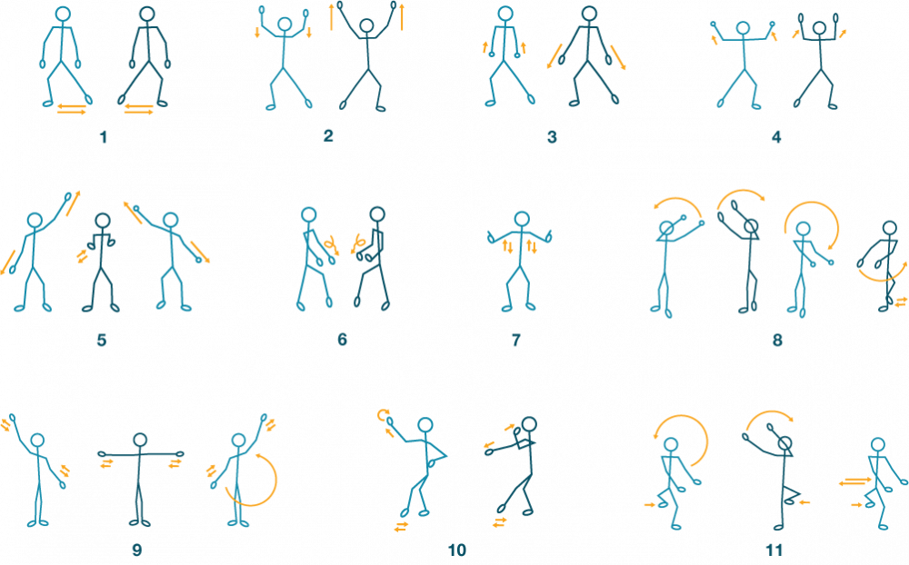 Dance moves illustrations