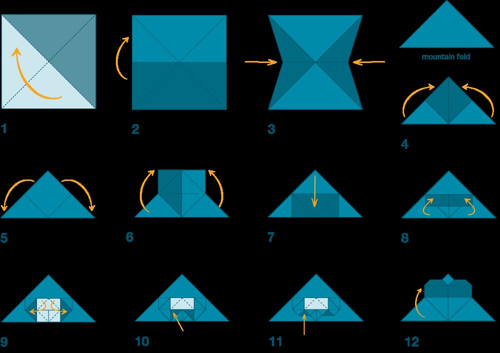 Origami instructions illustration