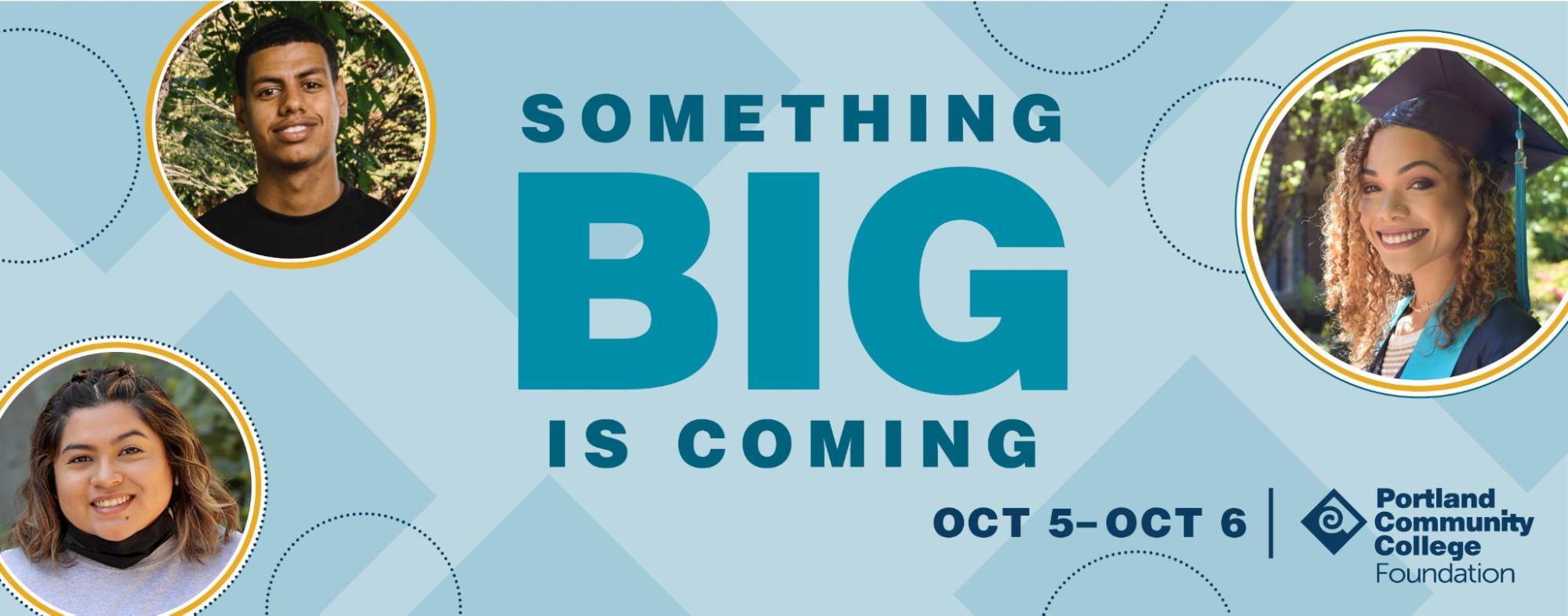 Something big is coming - Big Give Day October 5 and 6