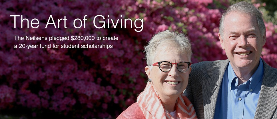 The art of giving: The Neilsens pledged $280,000 to create a 20-year fund for student scholarships