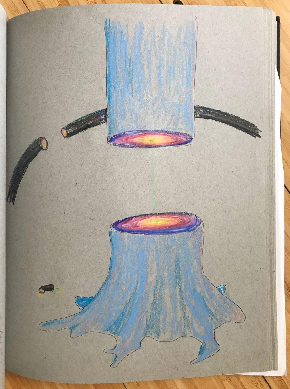 Conkle Sketchbook blue tree