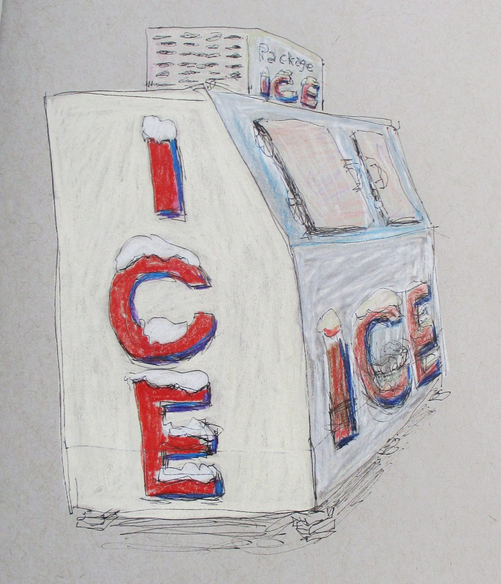 Conkle Sketchbook ice macine in color