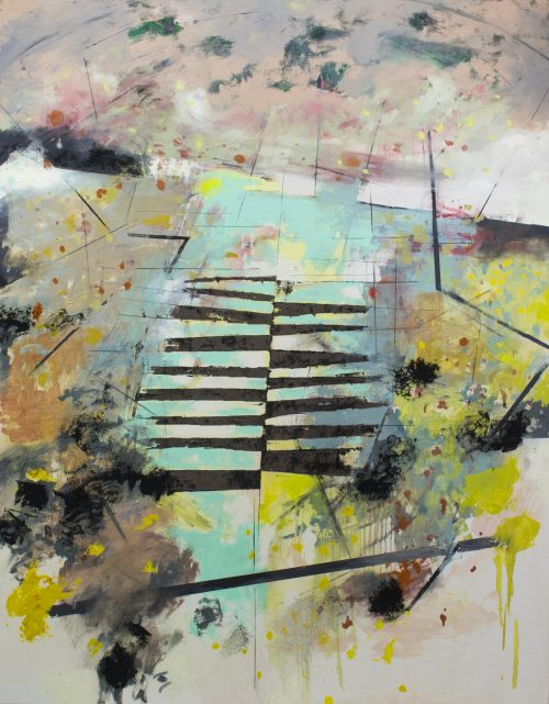 "Horizon, 2017 Oil on canvas, 48 X 61.5"""