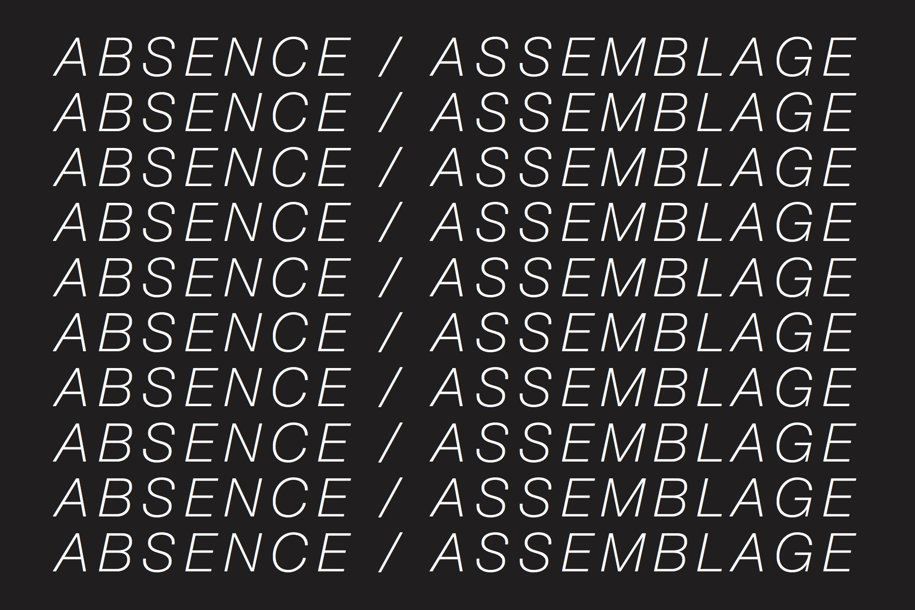 Absence/Assemblage graphic