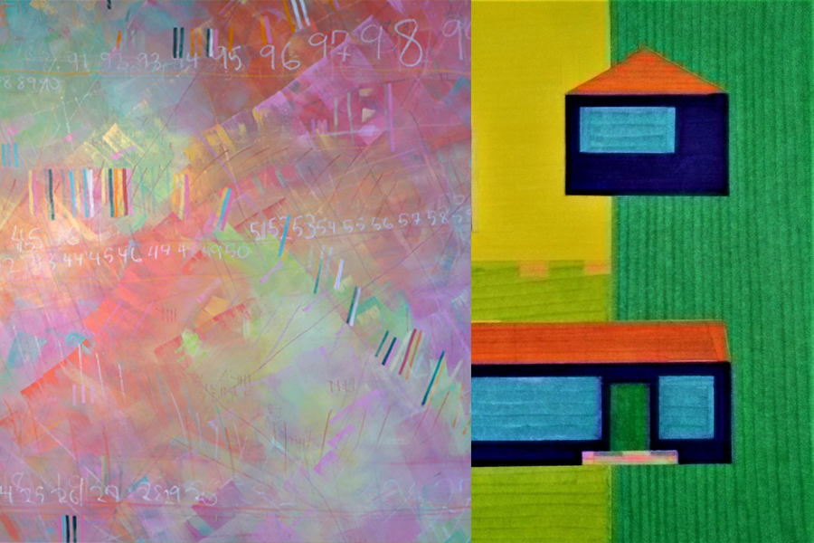 details of works by Meghan Hedley and Matthew Sproul